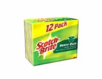 Scotch-Brite™ Heavy Duty Scrub Sponges - 12 pk - Yellow/Green