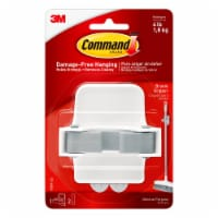 Command™ Damage-Free Broom Gripper - White/Gray