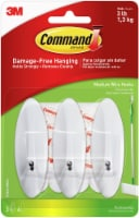 Command Medium Wire Hooks 3/Pkg-White 3 Hooks & 4 Strips - 1