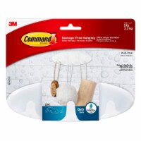 3M Command Bath Damage-Free Multi-Hook with Water Resistant Strip - White - 1 ct