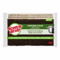 Scotch-Brite™ Greener Clean Heavy Duty Scrub Sponges - Brown