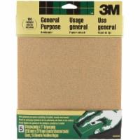 3M General -Purpose 9 In. x 11 In. 100 Grit Medium Sandpaper (5-Pack) 9002NA - 1