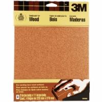 3M Bare Wood 9 In. x 11 In. 60 Grit Coarse Sandpaper (4-Pack) 9038NA - 1