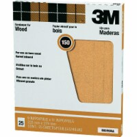 3M Pro-Pak Wood Surfaces 9 In. x 11 In. 150 Grit Very Fine Sandpaper (25-Pack) - 1