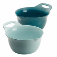 Rachael Ray Tools & Gadgets Nesting Mixing Bowl Set, 2 Piece - Light Blue & Teal