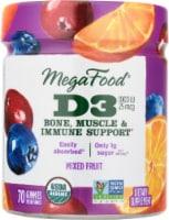 MegaFood Vitamin D3 Dietary Supplement Gummies