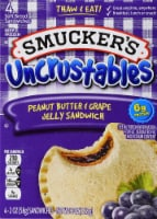 Smucker's Uncrustables Peanut Butter and Grape Jelly Sandwich