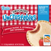 Smucker's Uncrustables Peanut Butter and Strawberry Jam Sandwiches