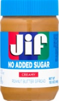 Jif No Added Sugar Creamy Peanut Butter Spread