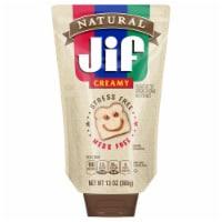 Jif Natural Creamy Peanut Butter Spread - 13 oz