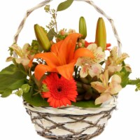 Wald Imports 0040-6 6 in.Woodchip Willow & Vine Handled Basket - Set of 3 - 1