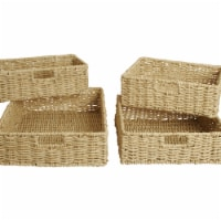Wald Imports 70017A Woven Seagrass Storage Baskets, Natural - Set of 4 - 1