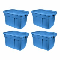 Rubbermaid Roughneck 25 Gal Stackable Storage Container, Heritage Blue (4 Pack) - 1 Piece