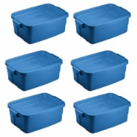 Rubbermaid Roughneck Tote 3 Gallon Storage Container, Heritage Blue (6 Pack) - 1 Piece