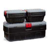 Rubbermaid 48 & 8 Gallons Action Packer Lockable Latch Storage Box Tote Bundle - 1 Piece