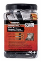 Keeper Assorted Flat Bungee Cord 48 in. L x .0787 in. 6 pk - Case Of: 1; Each Pack Qty: 6; - Count of: 1