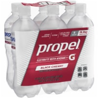 Propel Water Zero Calorie Sports Drinks with Electrolytes  Vitamins C & E 6 Pack - Black Cherry