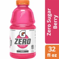 Gatorade G Zero Sugar Berry Electrolyte Enhanced Sports Drink 32 oz Bottle