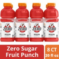 Gatorade G Zero Sugar Fruit Punch Electrolyte Enhanced Sports Drinks