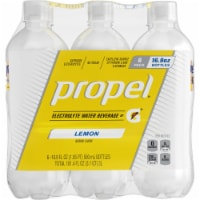 Propel Water Zero Calorie Sports Drink Enhanced with Electrolytes  Vitamins C & E 6 Pack - Lemon