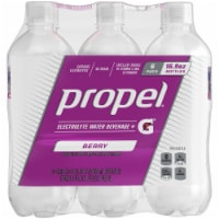 Propel Water Zero Calorie Sports Drinks Enhanced with Electrolytes Vitamins C & E - Berry 6 Pack