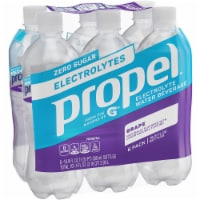 Propel Water Zero Calorie Sports Drinks Enhanced with Electrolytes  Vitamins C & E 6 Pack - Grape