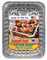 Handi-foil® Extra Deep BBQ King Utility Pan - Silver