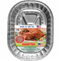 Handi-foil® Super King Roaster Extra Deep Oval Pan - Silver