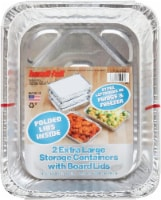 Handi-foil® Extra Large Storage with Folded Lids - 2 Pack
