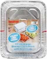 Handi-foil® Extra Large Storage with Folded Lids - 2 pk