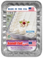 Handi-foil Cook-n-Carry Cake Pans & Lids (2 Pack)