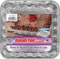 Handi-foil® Eco-Foil Cook-n-Carry Square Cake Pans & Lids