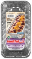 Handi-foil® Cook-n-Carry® Loaf Pans & Lids 3 Pack - Silver