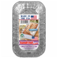 Handi-foil® Cook-n-Carry® Mini Loaf Pans & Lids 5 Pack - Silver