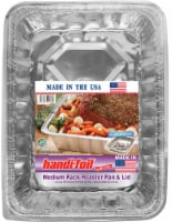 Handi-foil® Cook-n-Carry® Medium Rack Roaster Pan & Lid - Silver