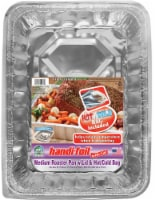 Handi-foil® Cook-n-Carry® Medium Roaster Pan with Lid & Hot/Cold Bag - Silver