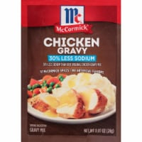 McCormick Less Sodium Chicken Gravy Seasoning Mix - 0.87 oz