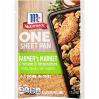 McCormick One Sheet Pan Farmer's Market Chicken & Vegetables Seasoning Mix - 1.25 oz