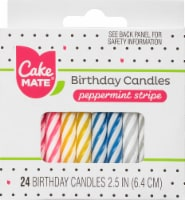 Cake Mate Birthday Candles - Peppermint Stripe