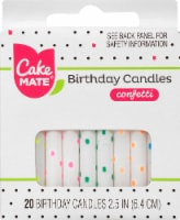 Cake Mate Birthday Candles - Confetti