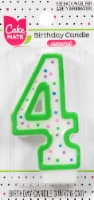 Cake Mate Numeral 4 Birthday Candle