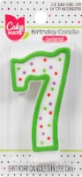 Cake Mate Birthday Candle Numeral 7