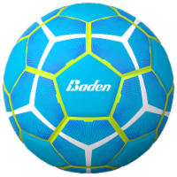 Baden Size 5 Soccer Ball - Turquoise/Yellow