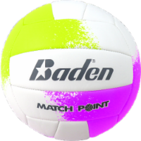 Baden Match Point Volleyball - White/Purple/Yellow