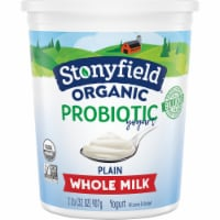 Stonyfield Organic Plain Probiotic Whole Milk Yogurt