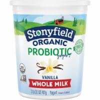 Stonyfield Organic Vanilla Probiotic Whole Milk Yogurt