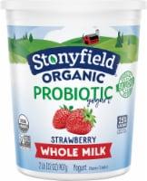 Stonyfield Organic Strawberry Probiotic Whole Milk Yogurt
