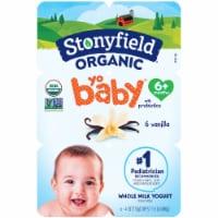 Stonyfield Organic® YoBaby® Vanilla Whole Milk Yogurt with Probiotics - 6 ct / 4 oz