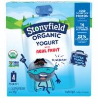 Stonyfield Organic Kids Blueberry Lowfat Yogurt 4 Count