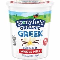 Stonyfield Organic Vanilla Bean Whole Milk Greek Yogurt
